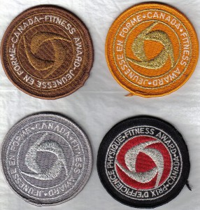 Badges awarded to Canada Fitness Test Participants