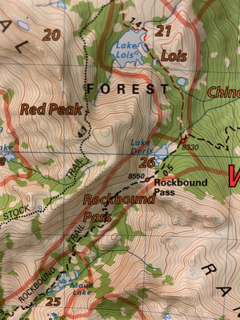 hiking map of desolation wilderness from maud lake to lake lois